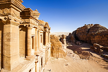 Rock-cut tomb Ad Deir, Petra, Jordan, Middle East