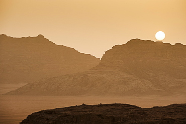 Sunset in Wadi Rum, Jordan, Middle East