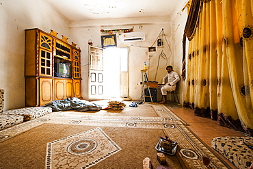 Room of a Bedouin family, Wadi Rum, Jordan, Middle East