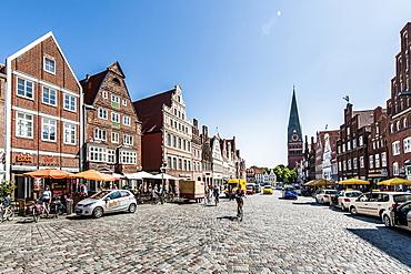 Am Sande square, Lueneburg, Lower Saxony, Germany