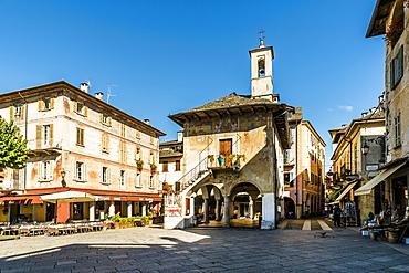Palazzo della Comunita palace Motta, Piazza Mario Motta, Orta San Giulio, Piedmont, Italy