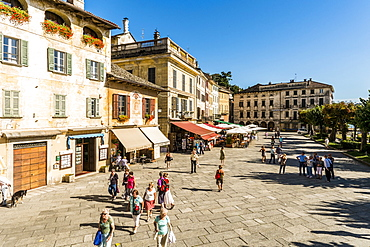 Piazza Mario Motta, Orta San Giulio, Piedmont, Italy