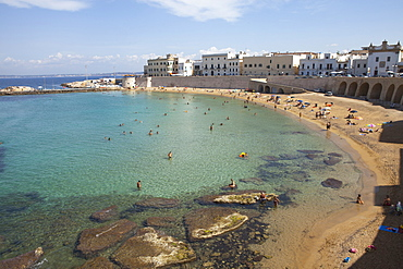 Beach of Gallipoli, Lecce Province, Apulia, Gulf of Taranto, Italy, Europe