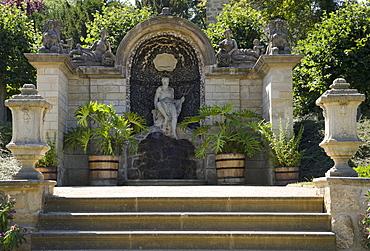 Manor house with baroque garden, Blankenburg, Harz, Saxony-Anhalt, Germany, Europe
