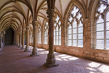 Cloister, Walkenried Monastery, Harz, Lower-Saxony, Germany, Europe