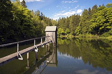 Carler pond, Clausthal-Zellerfeld, Harz, Lower-Saxony, Germany, Europe