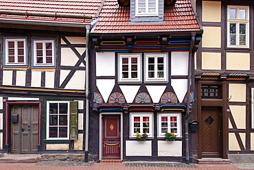 Half-timbered houses in Stolberg, Harz, Saxony-Anhalt, Germany, Europe