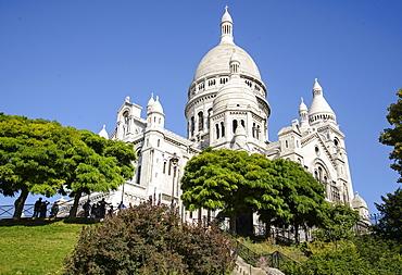 "Basilica of the Sacre CÅ""ur at Montmartre, Paris, France, Europe"