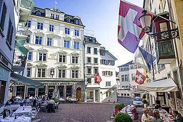 Haus zur Glocke, Steak House in the old town, Zurich, Switzerland
