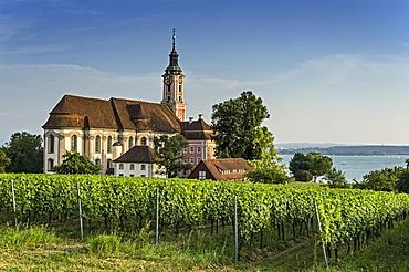 Birnau pilgrimage church, Lake Constance, Uhldingen-Muehlhofen, Baden-Wuerttemberg, Germany