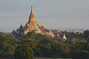 Ananda pagoda at sunrise, Old Bagan, Myanmar, Burma