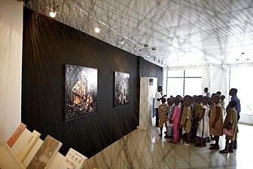 School class visiting a photo exibition, African Contemporary Art, Foundation Zinsou, Cotonou, Littoral Department, Benin