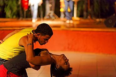Dancing couple, Salsa School, Via Danza, Havana, Ciudad de La Habana, Cuba, West Indies