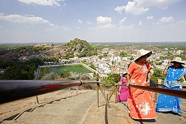 Ascent to the statue of Gommateshvara Bahubali, Shravanabelagola, Karnataka, India