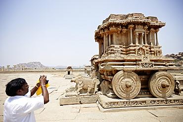 The stone chariot, Vittala complex, Hampi, Karnataka, India
