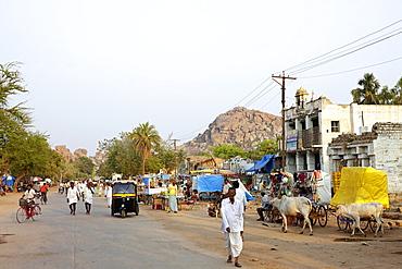 Hampi Bazar, Hampi, Karnataka, India