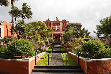 Cafe Restaurant Liceo Taoro, Plaza de la Constitucion, La Orotava, Tenerife, Canary Islands, Spain, Europe