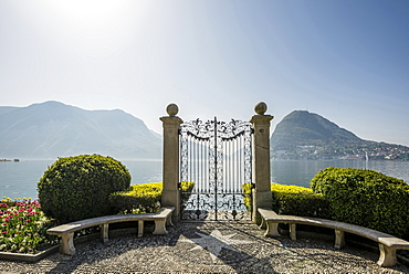 Parco Civico, Lugano, Lake Lugano, canton of Ticino, Switzerland