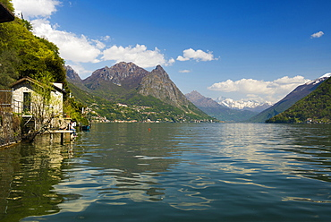 Gandria, Lugano, Lake Lugano, canton of Ticino, Switzerland