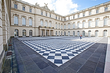 Inner courtyard, Herrenchiemsee Castle, Herrenchiemsee, Chiemgau, Bavaria, Germany