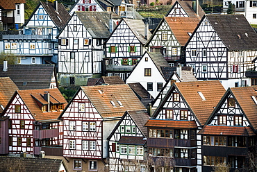 Timber frame houses, Schiltach, Black Forest, Baden-Wuerttemberg, Germany