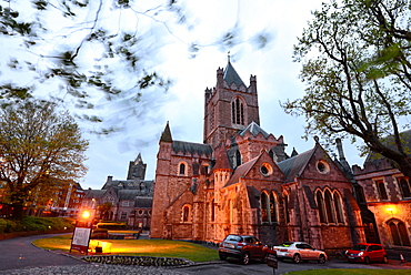 Christ Church Cathedral in the evening, Dublin, Ireland