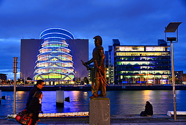 Admirals Statue at the Liffey River, Docklands, Dublin, Ireland