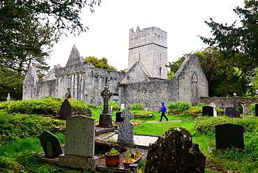 Mukross Abbey ruins at Lough Leane near Killarney, Ireland