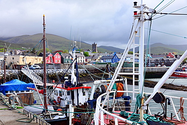 Fishing boats in Dingle harbour, Dingle peninsula, Kerry, West coast, Ireland