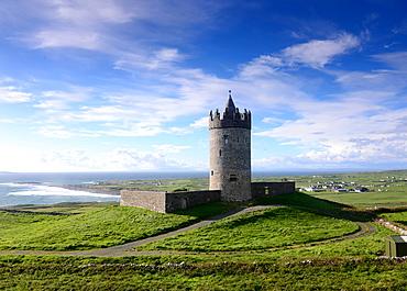 Doonagore Castle near Doolin, Clare, West coast, Ireland