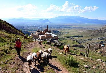 Ishak Pasa Palace near Dogubayazit at Ararat, Kurd populated area, east Anatolia, East Turkey, Turkey