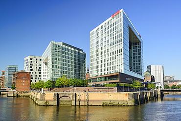 Building of Spiegel editorial office, Spiegelgebaeude, Hafencity, Hamburg, Germany