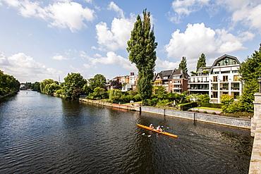 Mansions at river Alster, Hamburg, Germany