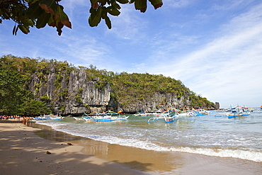 Excursion boats on the west coast of Palawan Island, Philippines, Asia