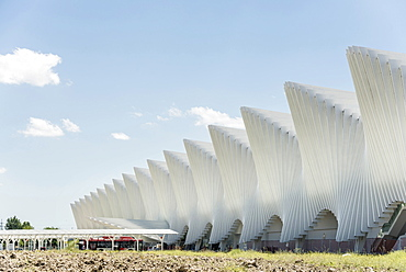high speed railway station Mediopadana, architect Santiago Calatrava, Reggio nell`Emilia, Provinz Reggio Emilia, Italy