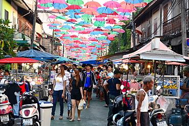 Night market in Surat Thani, South-Thailand, Thailand