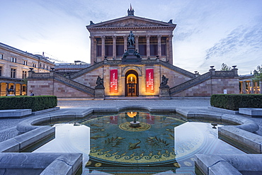 Old National Gallery, Museum Island, Fountain with Moasaic, Berlin Mitte, Germany