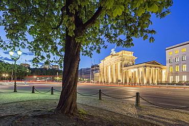 Brandenburg Gate at Twilight, Reichstag, Berlin, Germany