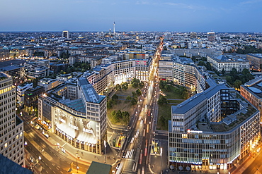 Panoramic view from Kollhoff Tower, Leipziger Platz, Berlin, Germany