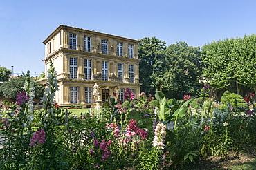 Flowers in the park of Pavillon de Vendome, Aix en Provence, Provence-Alpes-Cote d'Azur, France