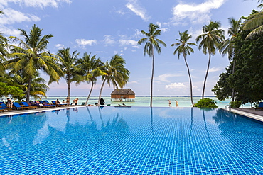 Swimming pool at Meeru Island Resort, Meerufenfushi, North-Male-Atoll, Maldives
