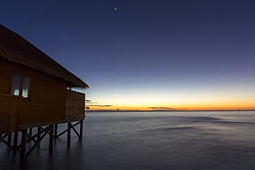 Water villa at Meeru Island Resort, Meerufenfushi, North-Male-Atoll, Maldives