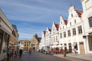 Marketsquare in Wismar, Baltic Sea, Germany, Europe