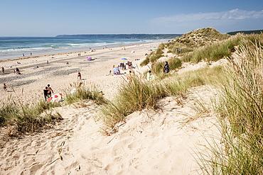 Dunes and beach at Baubigny, Normandy, France, Europe, Atlantic Ocean