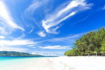 White sandy beach, Gili Meno, Lombok, Indonesia