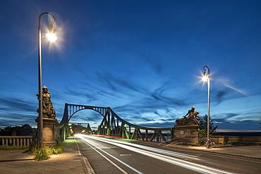 Glienicker Bridge in the evening, Potsdam, Brandenburg, Germany