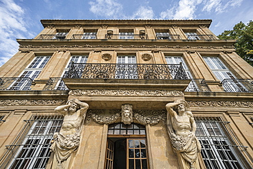 Facade of Pavillon Vendome, Aix en Provence, Cote d'Azur, France