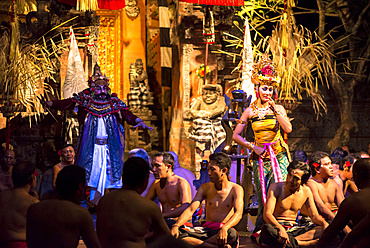 Traditional Balinese Dance Performance in traditional robes and dresses, Bali, Indonesia