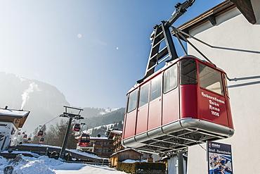 Hahnenkamm lift, Kitzbuehel, Tyrol, Austria, Europe