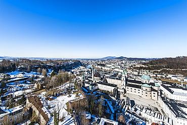 view to Salzburg from Hohensalzburg castle, Salzburg, Austria, Europe